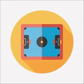 Baketball Court Flat Icon With Long Shadow,eps10