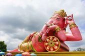 Pink Ganesha Statue