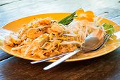 Pad Thai, Stir-fried Rice Noodles, Is One Of Thailand's National Main Dish