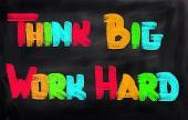 Think Big Work Hard Concept