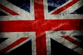Closeup of grunge Union Jack flag
