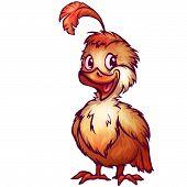 Vector illustration of quail in cartoon style