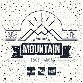 Mountain Retro Emblem