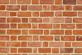 stock photo of mortar-joint  - Red Brick Wall or stone texture background - JPG