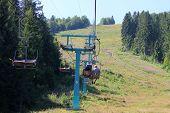 Chair lift in Carpathians