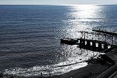 Beach And Pier In Gaspra In Morning, Crimea