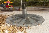 pic of sundial  - Sun clock marble sundial in Kiev Kyiv Ukraine photo - JPG