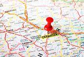 Saragossa ,spain Map