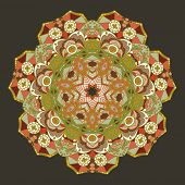 Round vector ornament Mandala. Traditional orient symbol.