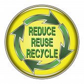 foto of reuse recycle  - Illustration of a recycle symbol with the words Reduce - JPG