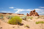 Rock Formation In Utah Desert