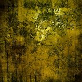 Old and weathered grunge texture. With different color patterns: brown, gray, yellow, black