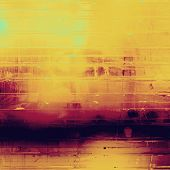Grunge aging texture, art background. With different color patterns: yellow, orange, purple (violet)