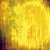 Textured old pattern as background. With different color patterns: yellow, brown, gray