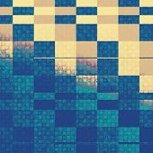 Vintage textured background. With different color patterns: yellow, blue, gray