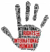 International Human Rights Day. Word Cloud Illustration