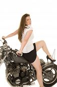 Woman Black Vest Motorcycle Sit Back Heal Up