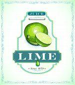 Lime juice label