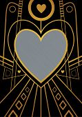 Art Deco Heart Border