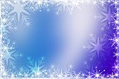 Christmas background with white snowflakes