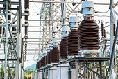 stock photo of substation  - Power station for making the electric energy - JPG