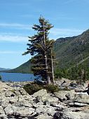Falling-home from stones between the bottom and average lake Mult, mountain Altai 5