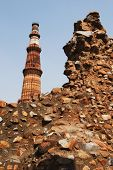 picture of qutub minar  - Low angle view of a monument - JPG