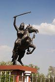 stock photo of lakshmi  - Statue of Rani Laxmi Bai - JPG