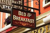 pic of bed breakfast  - Signboard of a bed and breakfast - JPG