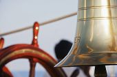 stock photo of messina  - Bell on a sailing ship - JPG