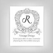 foto of monogram  - Vintage emblem  monogram vintage emblem - JPG