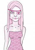Pink Eyepatch Girl