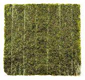 pic of edible  - Nori sheet of edible seaweed species of the red algae genus Porphyra - JPG