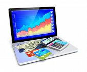 stock photo of electronic commerce  - Business improvement finance analyzing and e - JPG