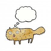 cartoon furry cat with thought bubble poster
