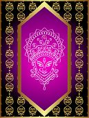 image of navratri  - Durga Goddess of Power Vector Art - JPG