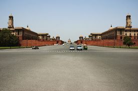 picture of rashtrapati  - Cars moving on the road - JPG