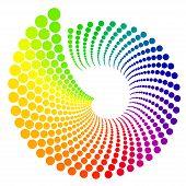 pic of color wheel  - Color wheel shaped like shell - JPG
