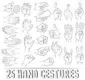 stock photo of obscene gesture  - 25 realistic hand gestures - JPG