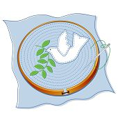 Dove of Peace Embroidery