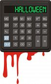 Halloween. Calculator.