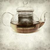 foto of fynbos  - textured old paper background with Rooibos tea - JPG