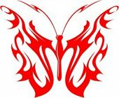 A vector illustration of a Flaming Butterfly in Tribal Style. Great for all kind of designs includin