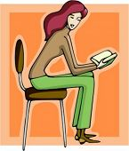 Businesswoman reading a book. Check my portfolio for many more images of this series.
