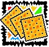 A vector illustration of a soda crackers.