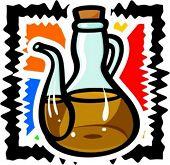 Olive oil. Vector illustration.