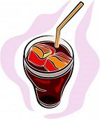 Cold drink.Vector illustration