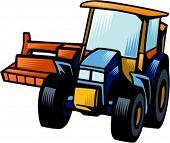 Row crop cultivator.Vector illustration