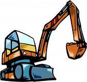 Excavator.Vector illustration