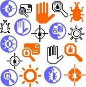 A set of 21 antivirus icons.